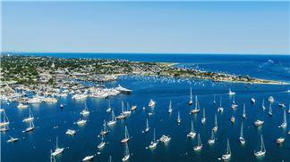 Nantucket Boat Basin Aerial View