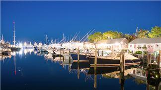 Nantucket Boat Basin Moorings Night View