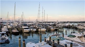 View from The Cottages & Lofts at Nantucket Boat Basin