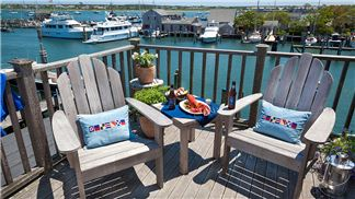 Adirondack Chairs, Crow's Nest Deck, Old South Wharf