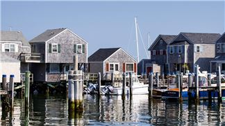 View of Old South Wharf Cottages from Swain's Wharf