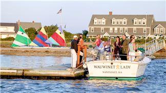 Boarding The Wauwinet Lady