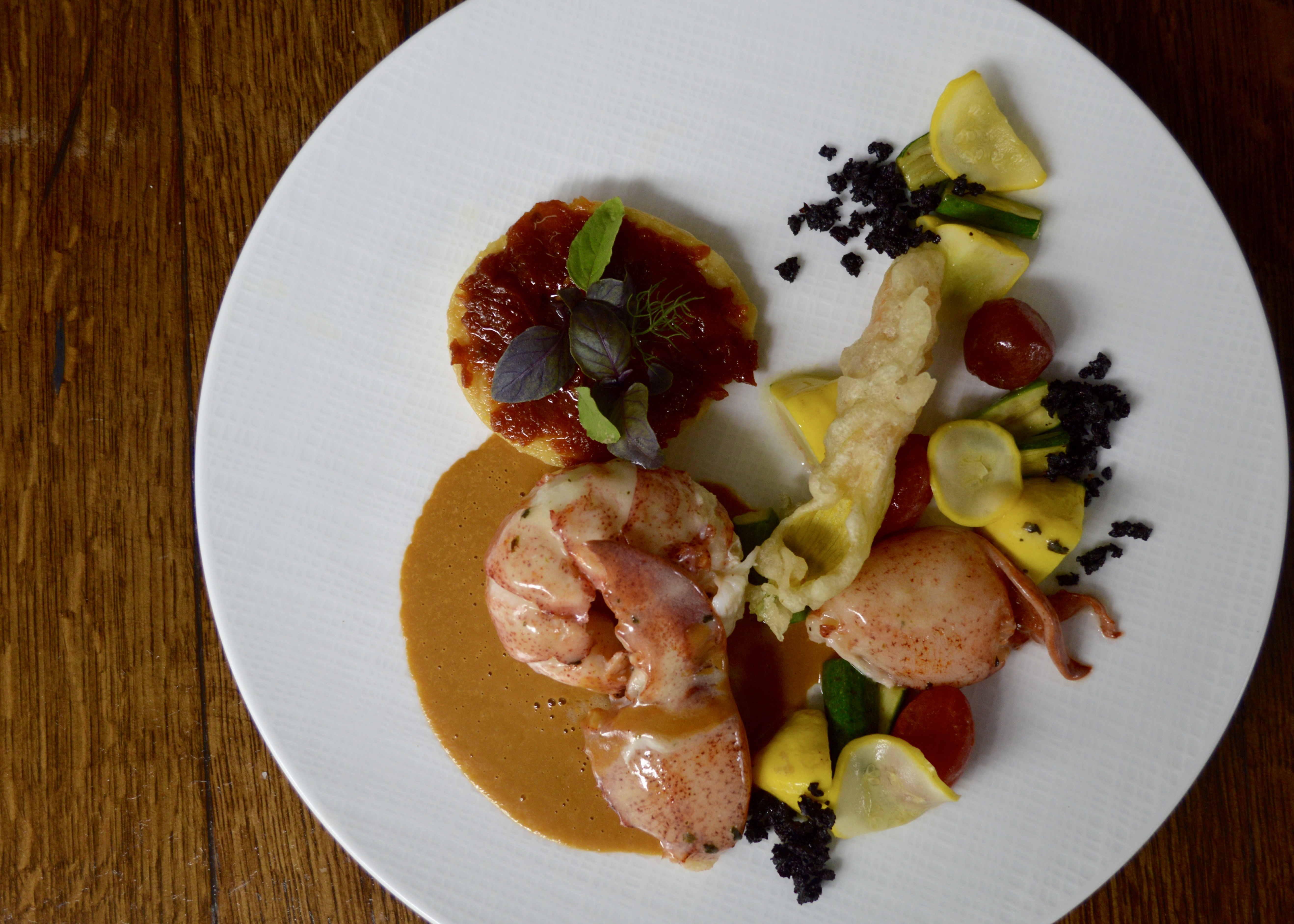 nantucket butter poached lobster