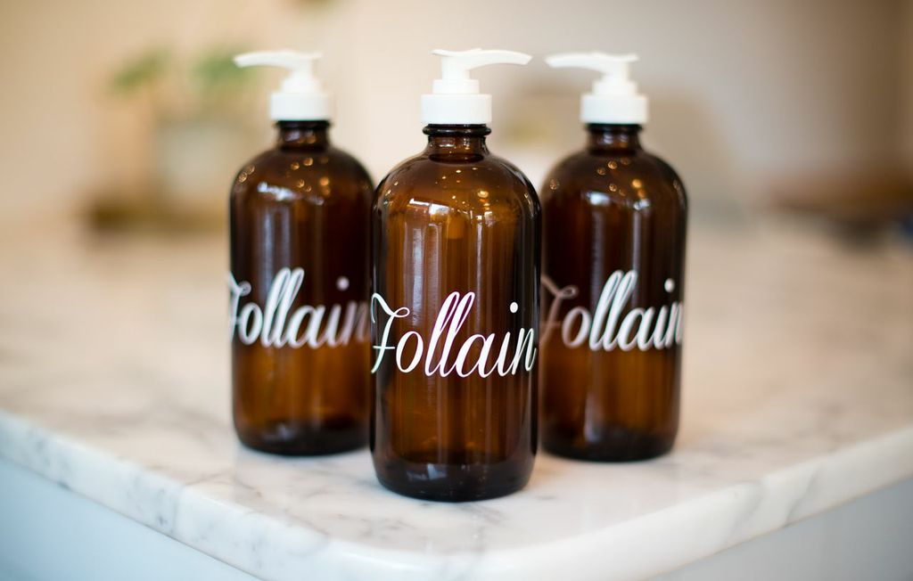 Follain Refill Soap Bottles